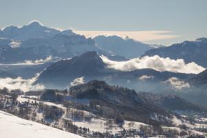Levée de neige sur le Mont Blanc
